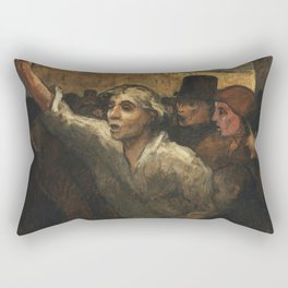 Honore Daumier - The Uprising (L'Emeute) Rectangular Pillow