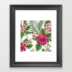 FLORAL PATTERN 9 Framed Art Print