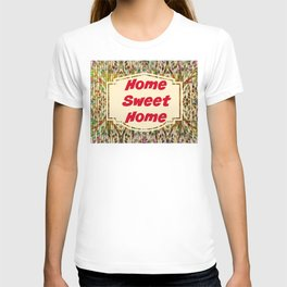 Stained Glass Home Sweet Home  T-shirt