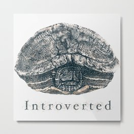 Introverted Metal Print