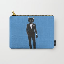 Gentleman Cat in Tuxedo suit Carry-All Pouch