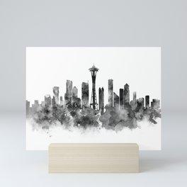 Seattle Black and White Mini Art Print