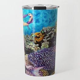 Morning Routine - Mermaid seascape Travel Mug