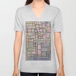 Composition 8 - Piet Mondrian Unisex V-Neck