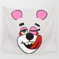 miley Wall Tapestries featuring Twerk Bear Miley Cyrus by Alan Lima
