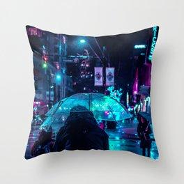 midnight city Throw Pillow