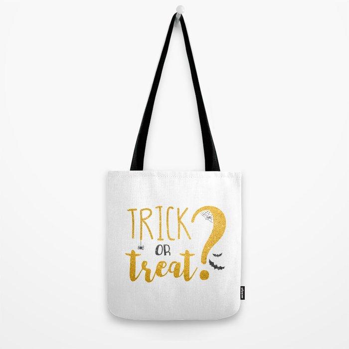 Trick Or Treat? | Glitter Tote Bag