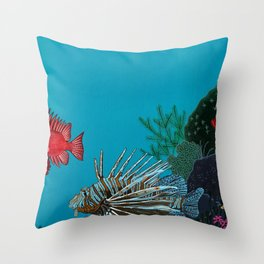Scorpion & Bigeye fishes Throw Pillow