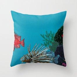 Scorpion & Bigeye fishes Throw Pillow