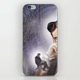 """""""(Tesla) A Man out of Time"""" iPhone Skin"""