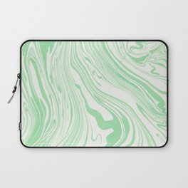 Pastel green white watercolor hand painted marble Laptop Sleeve