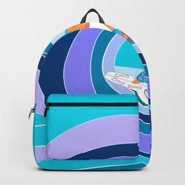 cute corgi surfer Backpack