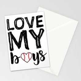 Love My Boys Stationery Cards