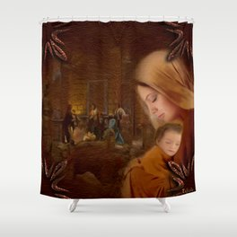 Christmas Blessings - Christmas art by Giada Rossi Shower Curtain