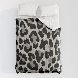 Grey Leopard Comforters