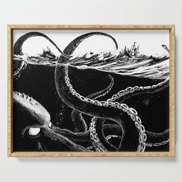 Kraken Rules the Sea Serving Tray