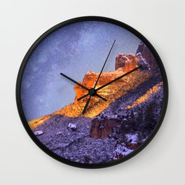Montserrat Mountains Wall Clock