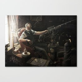 A Quarter Past Canvas Print