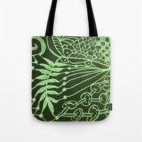 zentangle Tote Bags featuring Zentangle by AM Prono
