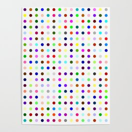 Big Hirst Polka Dot Poster