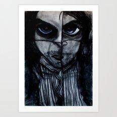 Insomnia 2 - Blue Art Print
