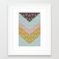 arrows Framed Art Prints featuring arrows by Emma S