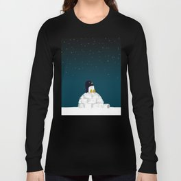 Star gazing - Penguin's dream of flying Long Sleeve T-shirt