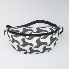 Black & white shark tooth pattern for the beach Fanny Pack