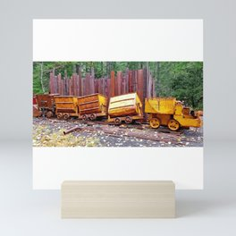 AllenbyArt Crazy Train Vintage Scenario of Nature, Photography,  Mini Art Print
