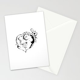 Within the Twilight Heart Stationery Cards