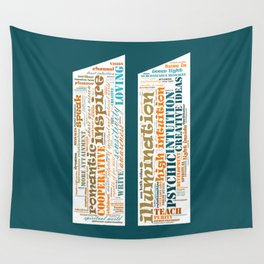 Life Path 11 (color background) Wall Tapestry