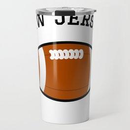 New Jersey American Football Design black lettering Travel Mug