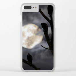 Full Moon Committee Clear iPhone Case