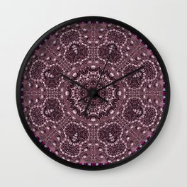 pearls pasta and paper Wall Clock