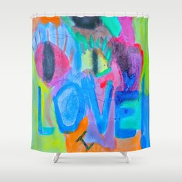 Summer Love | Painting by Elisavet Shower Curtain