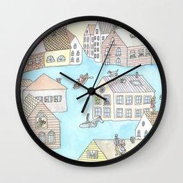 Happy Flood Wall Clock