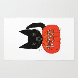 Halloween Black Cat Rug