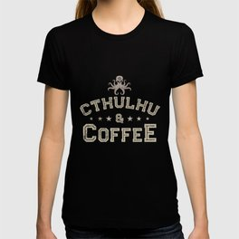 CTHULHU SHIRT, CTHULHU AND COFFEE TSHIRT, LOVECRAFT SHIRT T-shirt