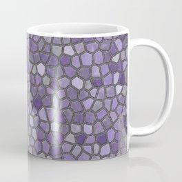 Faux Stone Mosaic in Purples Coffee Mug