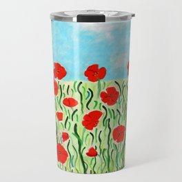 Everything's Popping Up Poppies! Travel Mug