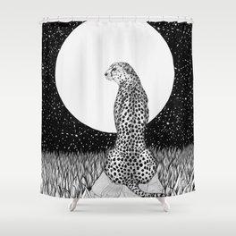 Cheetah Moon Shower Curtain