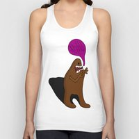 bigfoot Tank Tops featuring Sandy Bigfoot by Chelsea Herrick