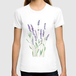 purple lavender watercolor painting T-shirt