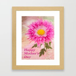 Hot Pink Daisy Mother's Day Card Framed Art Print