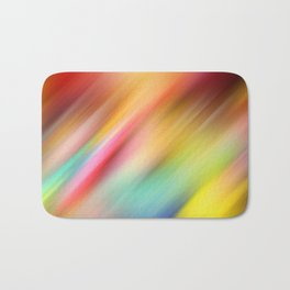 Abstract of multiple colors blending into each other Bath Mat