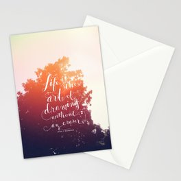 Sunrise with a quote Stationery Cards