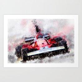 Niki Lauda No.1 Art Print
