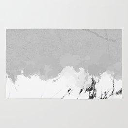 White marble spill on concrete Rug