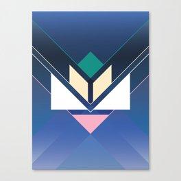 Tangram Lotus Two Canvas Print