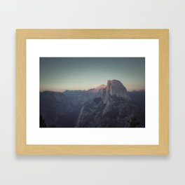 Sunset at the Half Dome Framed Art Print